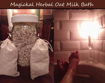 Magical Herbal Oat Milk Bath