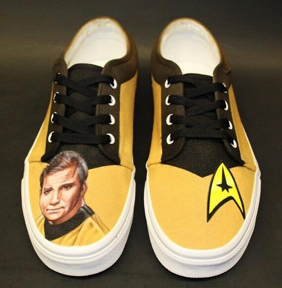 STAR TREK Custom Painted Airbrush Shoes