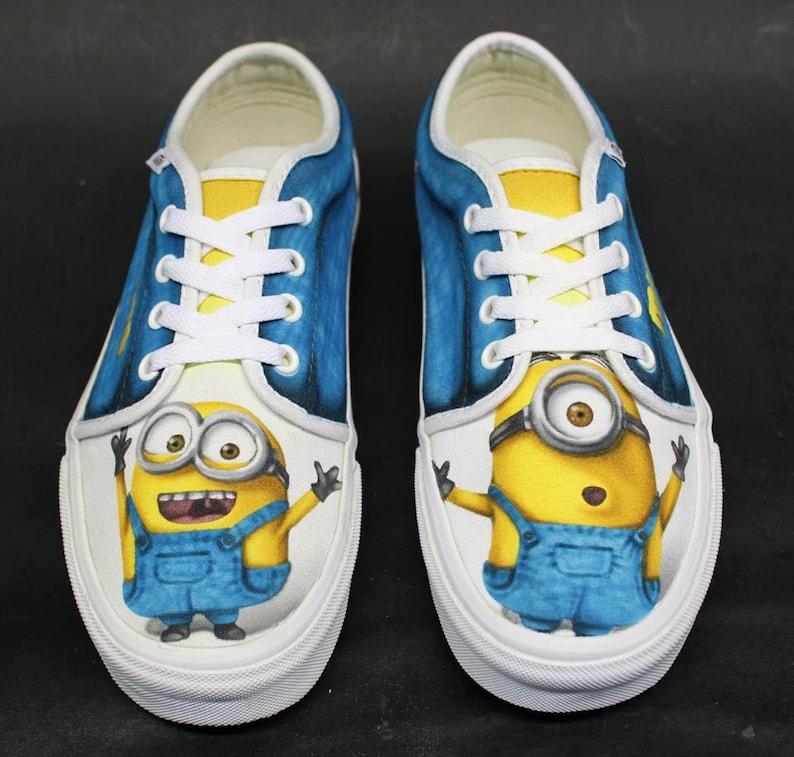9fc5fc31de Custom Airbrushed Shoes Vans  Minions Despicable Me