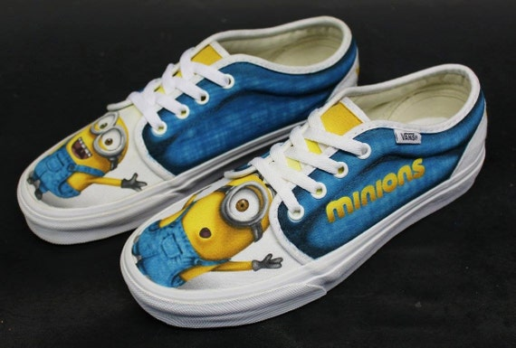 Custom Airbrushed Shoes (Vans): Minions Despicable Me