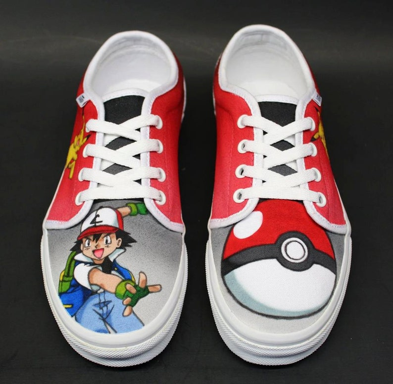 468076de57ac3b Custom Airbrushed Shoes Vans  Pokemon Ash   Pikachu