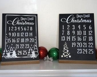 Christmas Countdown Chalkboard  - Days Until Christmas