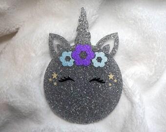 Acrylic Unicorn Bauble - Personalised Christmas Ornament