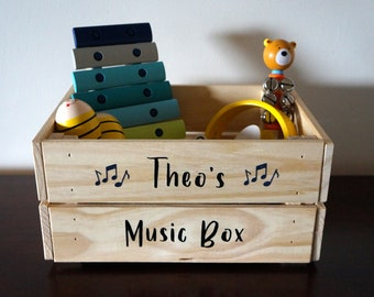 Personalised Wooden Crate - Gift Box Idea - Music Box - Beer Crate