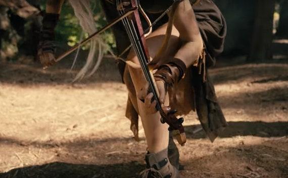 Warcraft Woman Elf Tribal Larp Barbar Leder Kostüm Post ArmstulpenLang Wonder Max Schwarz Cosplay Apokalyptischen Mad Festival SUqzMpGV