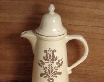 Vintage Pfaltzgraff Village Coffee Pot Pfaltzgraff Large Tea Pot, 7 cup Coffee Pot Pfaltzgraff Large Ceramic Coffee Pot Made in USA