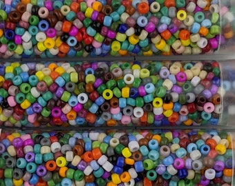 """Japanese 11/0 Seed Beads - Lot of 4 (3"""" Tubes) - Color Number """"Opaque Mix"""""""