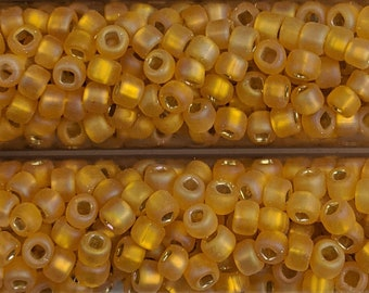 """Japanese 8/0 Seed Beads - Lot of 3 (3"""" Tubes) - Color # F637"""