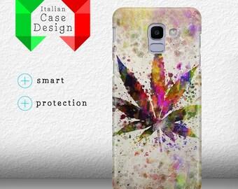 46e3b124a69 Case Cover Rainbow Leaf Weed Ganja Amsterdam Drugs for Samsung Galaxy J6  2018 - J6 Plus 2018