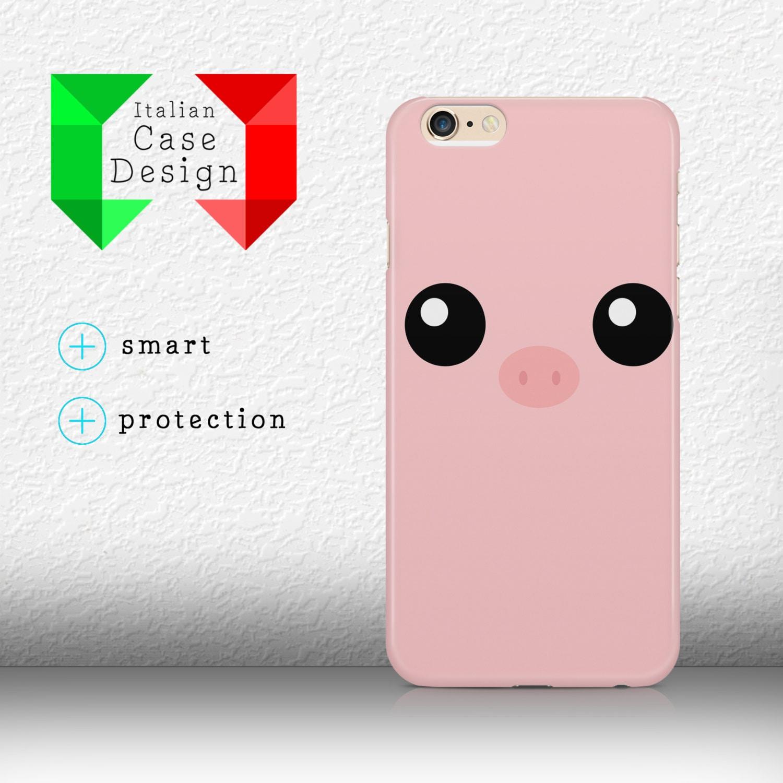 Case Cover Sweet Pig Face Illustration Fashion Design Iphone Etsy