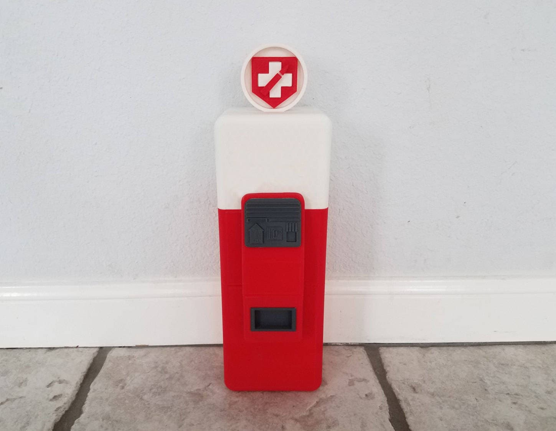 Mini Kühlschrank Juggernog : D gedruckte munter mini kühlschrank replica etsy
