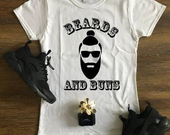Beards and Buns #2 T-shirt