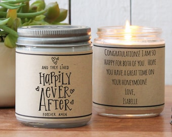 Happily Ever After Candle - Personalized Wedding Gift   Personalized Wedding Card   Unique Wedding Gift   Candle Wedding Gift