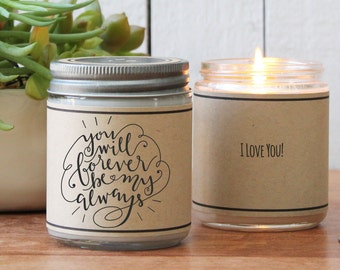 You will Forever be my Always Candle Greeting | Boyfriend Gift | Valentine's Day Gift | Girlfriend Gift | I Love You gift | Husband Gift