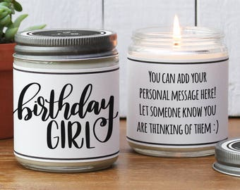 Birthday Girl Soy Candle   Birthday Gift for Her   Sister Birthday Gift   Daughter Birthday Gift   Mom Birthday Gift   Birthday Candle
