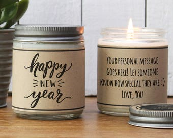 happy new year gift happy new year candle new years ever hostess gift send new years eve gift happy new year card holiday candle