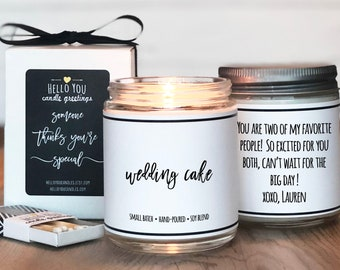 Wedding Cake Scented Candle | Wedding Gift Candle | Unique Scented Candle | Wedding Candle | Engagement Gift | Personalized Candle