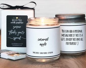Caramel Apple Scented Candle | Fall Scented Candle | Autumn Scented Candle | Soy Candle | Apple Candle | Personalized Candle