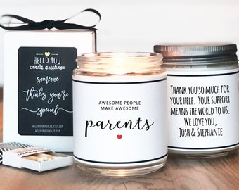 Parent Thank You Gift   Awesome People Make Awesome Parents   Thank You Gift For Parents   Wedding Thank You For Parents