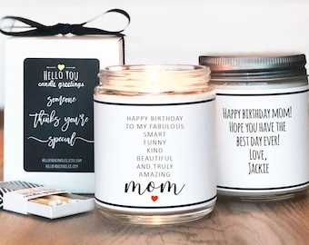 Mom Birthday Gift Candle   Personalized Mom Birthday Candle   Birthday Gift For Mom   Birthday Gift For Her   Mom Gift Candle