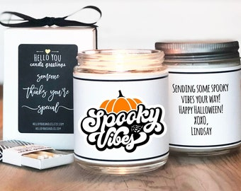Halloween Candle   Spooky Vibes Candle   Halloween Gift   Halloween Scented Candle   Halloween Greeting   Fall Candle   Halloween Decor