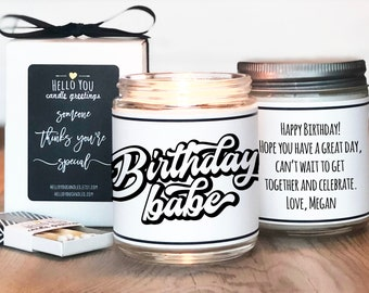 Birthday Gift Candle   Birthday Babe Candle   Birthday Candle   Personalized Birthday Gift   Birthday Gift For Her   Friend Birthday Gift