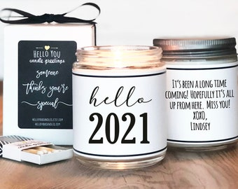Hello 2021 Candle Gift   2021 Gift   Quarantine Gift   New Years Gift   Socially Distant Gift   Happy New Year Gift