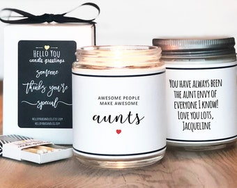 Awesome People Make Awesome Aunts Candle Gift - Aunt Gift   Personalized Gift For Aunt   Gift for her   New Aunt Gift   Aunt To Be Gift