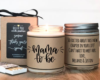 Mama To Be Soy Candle | Gift for mom to be | Pregnancy gift | Mother's Day Gift | Personalized Pregnancy Gift | Baby Shower Gift