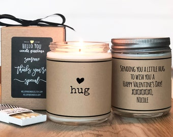 Send A Hug Candle   Valentine's Day Gift Candle   Valentine's Day Candle   Valentine's Day Card   Boy Friend Gift   Girl Friend Gift