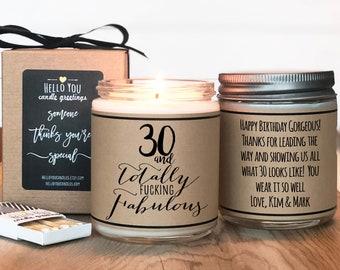 30th Birthday Gift Candle   Birthday Gift For Her   Funny Birthday Gift   Birthday Candle   Birthday Gift Friend   Milestone Birthday Gift