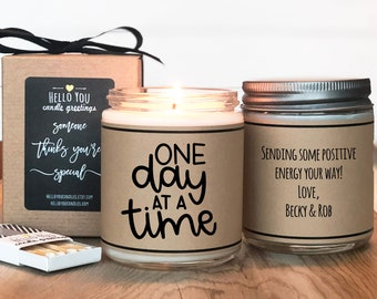 One Day At A Time Candle Gift   Support Gift   Divorce Gift   Inspiration Gift   Break Up Gift   Condolence Gift   Illness Gift  Cancer Gift