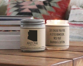 Arizona Scented Candle - Homesick Gift | Feeling Homesick | State Scented Candle | Moving Gift | College Student Gift | State Candles