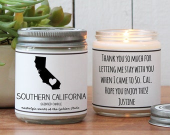 Southern California Scented Candle - Homesick Gift | State Scented Candle | Moving Gift | College Student Gift | California Lover