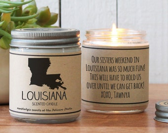 Louisiana Scented Candle - Homesick Gift | State Scented Candle | Louisiana Gift | College Student Gift | State Candles | I Love Louisiana