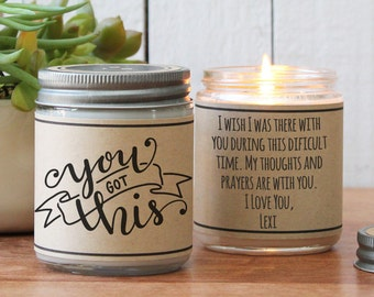 You Got This Soy Candle Gift | Encouragement Gift | Inspiration Gift | Support Gift | Fighting Illness Gift | Motivation Gift | Support Gift