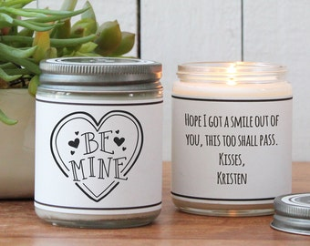 Be Mine Valentine's Day Soy Candle Gift - Scented Candle - Valentine's Day Candle | Valentine | Boy Friend Gift | Girl Friend Gift