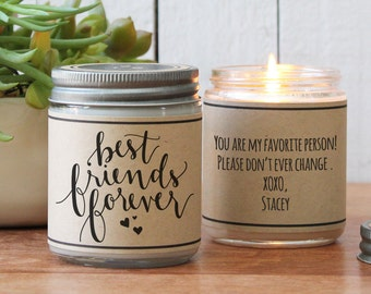 Best Friends Forever Scented Soy Candle Gift - Scented Candle - Best Friends Gift | Best Friends Birthday Gift| Girl Friend Gift