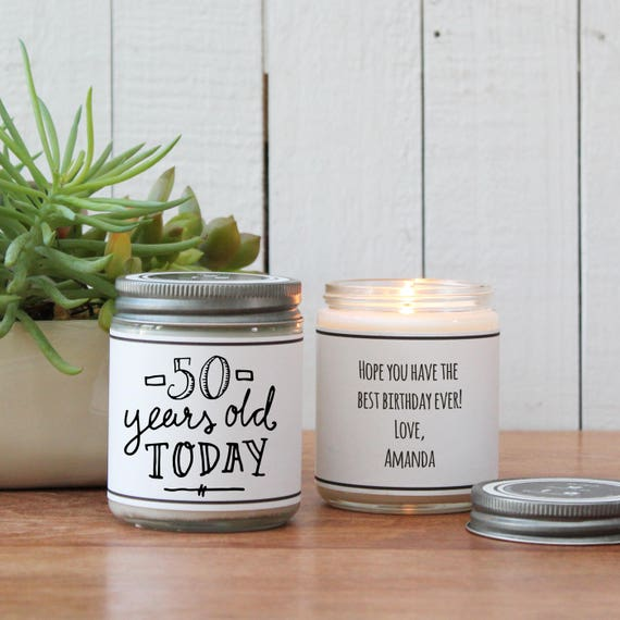 50th Birthday Gift Candle Milestone ANY AGE