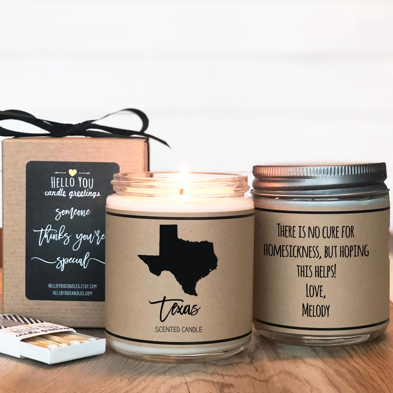 Texas Scented Candle  Homesick Gift  State Scented Candle  image 0