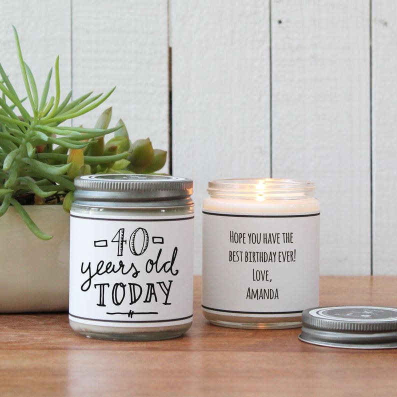 40th Birthday Gift Candle Milestone ANY AGE