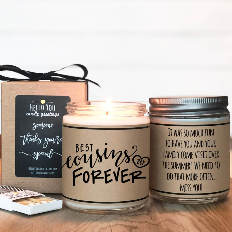 Best Cousins Forever Personal Cousin Gift Cousin Gift Best Cousin Gift Cousin Candle Gift for Cousin Best Cousins Forever Candle