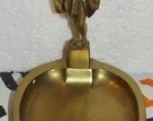 Former Door soap soap empty pocket Bonze brass statue gentleman vintage deco bathroom