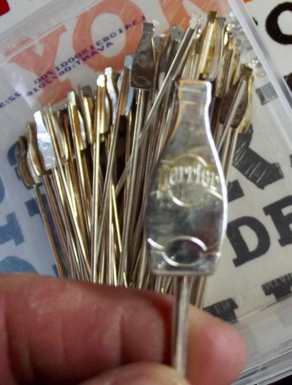 Former Toubler stick Rod spoon cocktail vintage advertising metal sparkling  water Perrier  1970 old vintage cocktail puller