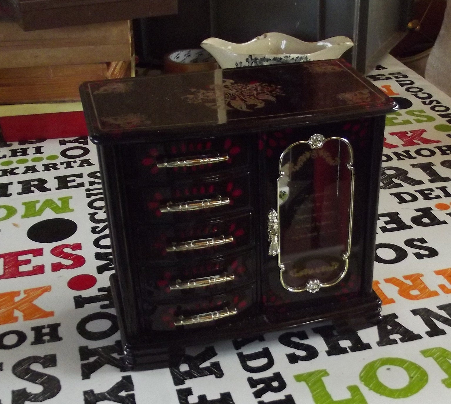 Commode Ancienne A Restaurer old music box, vintage plastic jewelry box convenient im so grateful for  the love we share together we ve found the kind of happines