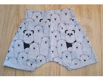 Grey Bear Harem Shorts 2-3Y