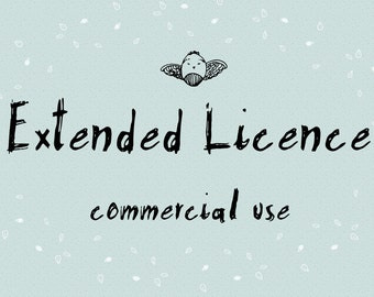 Extended License for Commercial Use (This is an add on, please purchase with graphics)