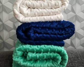 Minky CUDDLE DIMPLE® - Natural,Royal Blue,Sea Foam