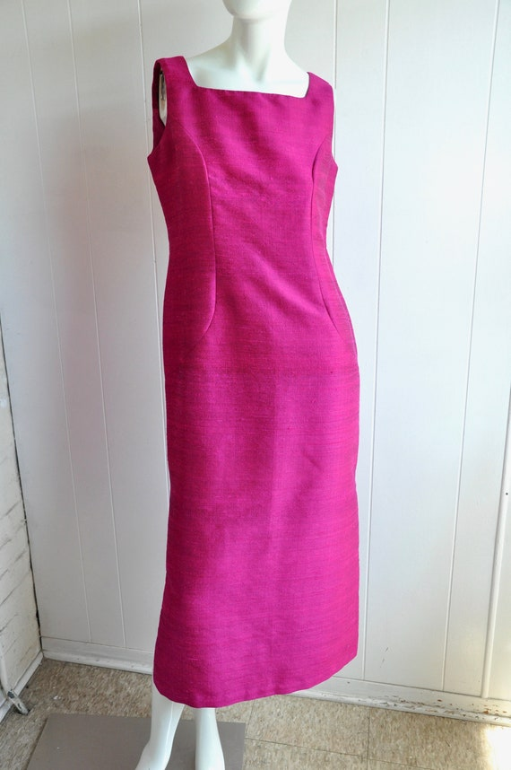 60s Hot Pink Japanese House Dress, 3-Piece Dress … - image 2