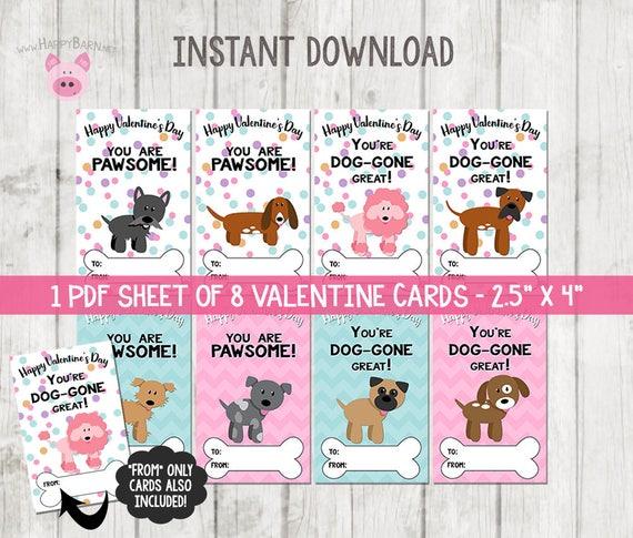 Puppy Valentines Cards Dog Valentine Cards School Valentine